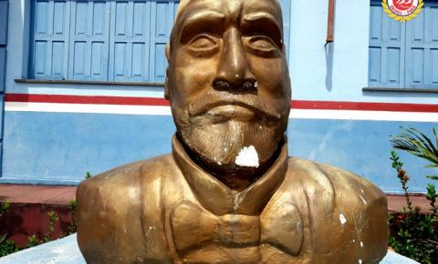 Busto de Inglês de Sousa é alvo de vandalismo | Portal Obidense