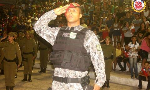 Na Praça da Cultura - Polícia Militar e Força Nacional, prestaram homenagem a independência do Brasil | Portal Obidense