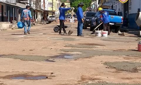Rua Siqueira Campos em recuperação | Portal Obidense