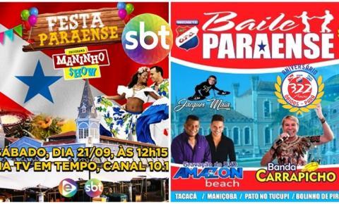 Programa Maninho Show do SBT, recebe filhos de Óbidos neste sábado (21) | Portal Obidense