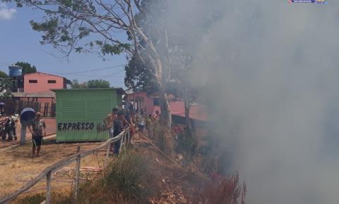 Incêndio na área da barreira deixa moradores em alerta | Portal Obidense