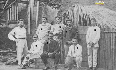 Comissão responsável pela construção do Quartel de Óbidos em 1908 | Portal Obidense