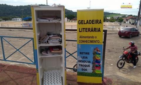 Vandalismo contra a cultura, geladeira literária volta a ser destruída | Portal Obidense