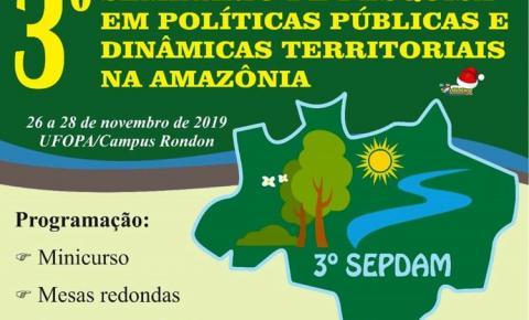 III Seminário de Pesquisa em Políticas Públicas e Dinâmicas Territoriais na Amazônia | Portal Obidense