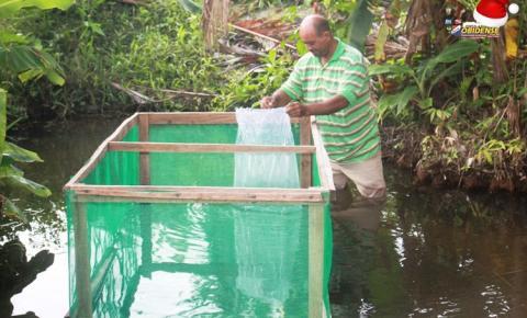 Seu Genival Camilo da Silva, de 51 anos agricultor familiar, falou sobre o recebimento de alevinos na sua comunidade