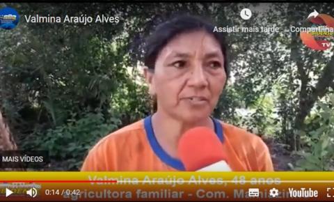 Valmina Araújo Alves, 48 anos agricultora familiar, agradeceu a iniciativa e disse que é um sonho realizado