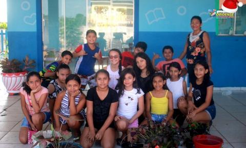 Alunos participam de projeto Jardinagem e Arborização na escola Dom Floriano | Portal Obidense