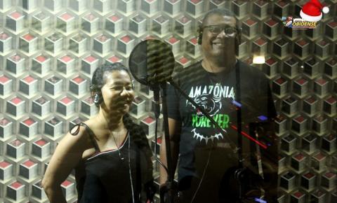 Edilson Santana grava música do Bloco Unidos do Morro - Mascarado Fobó