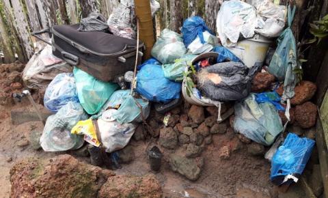 Morador é obrigado a acumular lixo domestico por falta de coleta | Portal Obidense