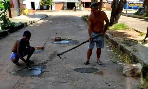 Em Óbidos moradores se obrigam a tapar buraco de suas ruas | Portal Obidense