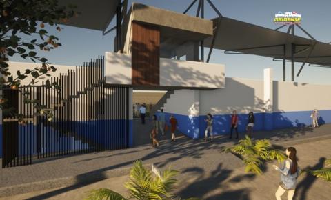 Prefeito de Óbidos assinou ordem de serviço para obras de ampliação da estrutura do estádio Aryzão | Portal Obidense