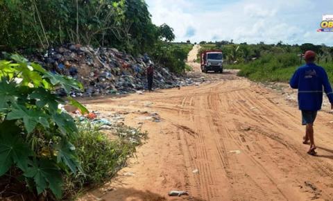 Moradores denunciam, que lixo está sendo despejado em local inapropriado | Portal Obidense