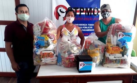 Sindicato dos Servidores Públicos de Óbidos promove sorteio de cestas básicas | Portal Obidense