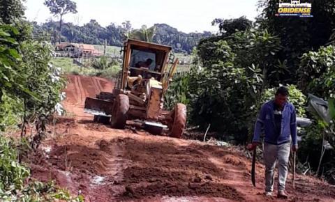 Ramal do Cruzeirão recebe terraplanagem | Portal Obidense