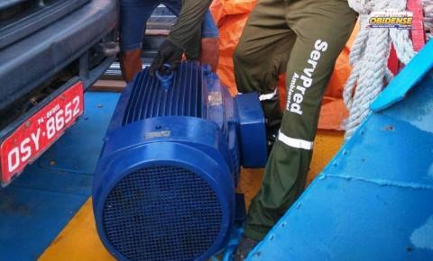 Bomba d´agua da Cosanpa já está em Óbidos | Portal Obidense