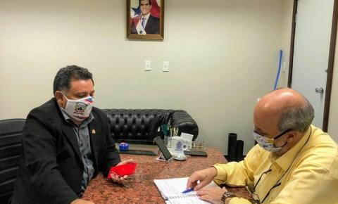 Vereador Rosinaldo Cardoso se reune com presidente da Cosanpa | Portal Obidense