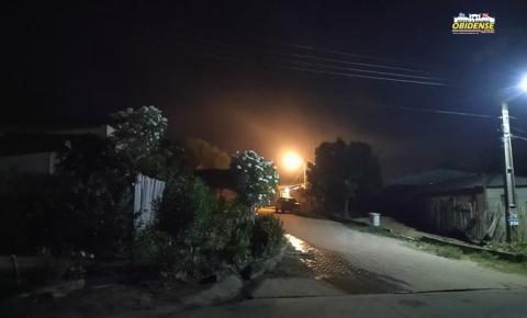 Intensa fumaça toma conta do Bairro Cidade Nova, em Óbidos | Portal Obidense
