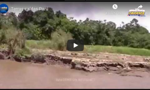 Veja os fenômenos de terras caídas em Óbidos e os problemas causados as comunidades | Portal Obidense