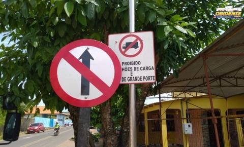 Rua Pedro Álvares Cabral é transformada em via única | Portal Obidense