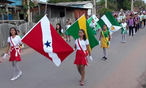 Secretária de educação da cidade de Prainha envia fotos para lembrar o 7 de setembro | Portal Óbidos