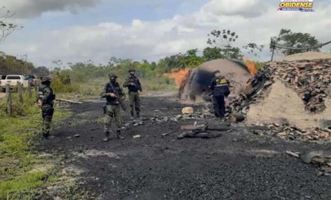 """Operação """"Amazônia"""" Viva flagra garimpos ilegais e protege área equivalente a 7 mil campos de futebol no Pará   Portal Obidense"""