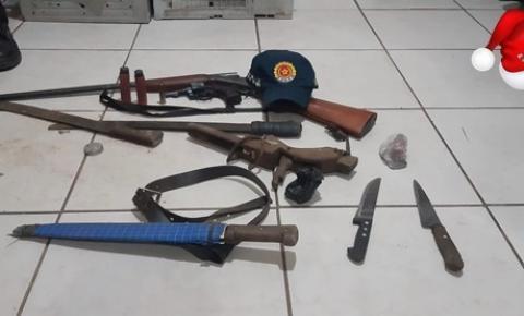 PM de Óbidos-Pará apreende quarteto com armas de fogo   Portal Obidense