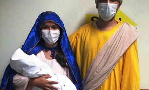 Presépio vivo realiza visita ao Hospital Regional do Sudeste do Pará   Portal Obidense