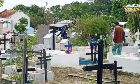 Ações de Limpeza no Cemitério São João Batista em Óbidos | Portal Obidense
