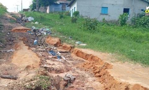 Erosão preocupa moradores do bairro do São Francisco em Óbidos | Portal Obidense