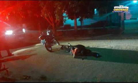 Em Curuá, homem cai de moto é levado para centro de atendimento | Portal Obidense