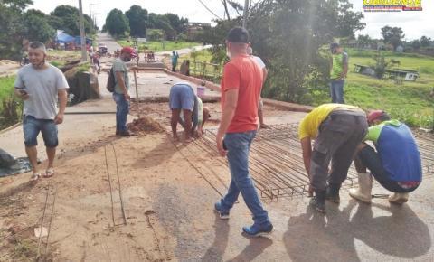 Prefeitura trabalha para entregar ponte do Bela Vista. Para isso poderá ser usado o desvio da campina | Portal Obidense