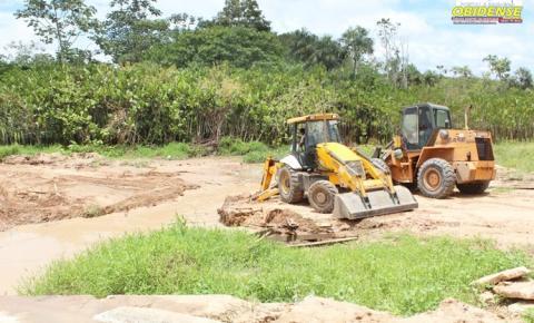 Desvio provisório da Ponte do Bela Vista foi removida na manhã deste Sábado   Portal Obidense
