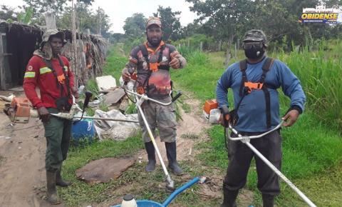 Moradores do bairro Perpétuo Socorro se organizam em mutirão de limpeza | Portal Obidense
