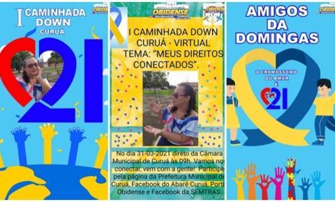 """Caminha Down Curuá, 31 de março ao vivo pelo Portal Obidense, tema """"Meus direitos conectados"""""""
