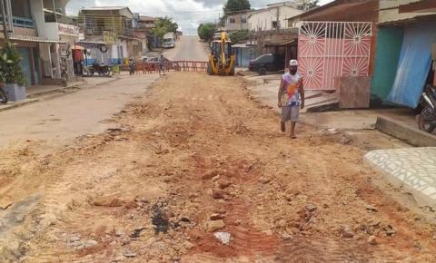 Rua da Passagem recebe trabalhos paliativos da SEINFRA| Portal Obidense