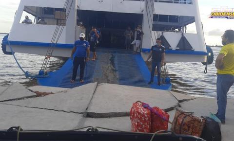 Embarcação causa destruição em parte da orla de Óbidos   Portal Obidense