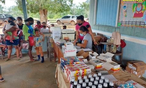 Comunidade Cruzeirão recebe ação da Secretaria de Saúde de Óbidos | Portal Obidense