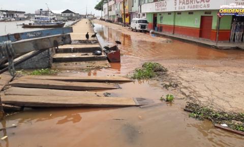 Nível do Rio Amazonas preocupa Defesa Civil de Óbidos | Portal Obidense