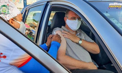 Bispo da Diocese de Óbidos, Dom Bernardo Johannes recebe a 1ª dose de vacina | Portal Obidense