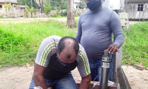 Comunidade Igarapé-Açu ganha uma bomba d'água nova   Portal Obidense