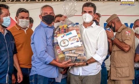 Prefeito Jaime Silva recebe do Governo do Estado 700 cestas básicas para Óbidos   Portal Obidense