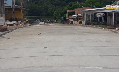 Rua Felipe dos Santos recebe trabalhos de concretagem   Portal Obidense