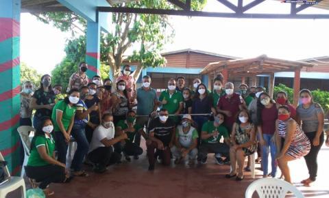 Escola Dr. Raymundo Chaves recebe roçadeira de presente   Portal Obidense