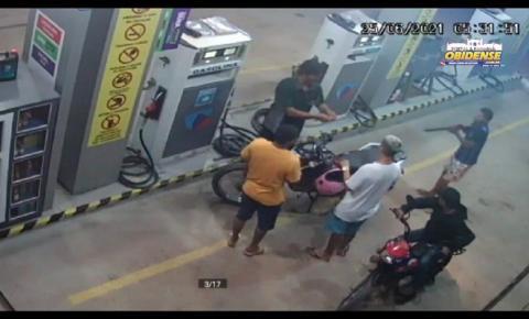 Assalto em posto de combustível foi registrado por Câmara de segurança em Óbidos   Portal Obidense