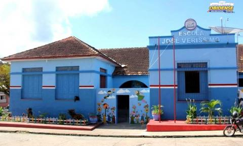 Oitavo dia de festividade, imagem de Sant´Ana sai da escola José Veríssimo | Portal Obidense