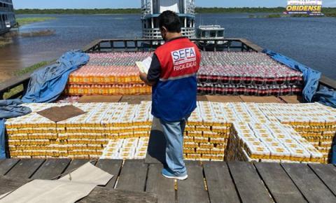 Secretaria da Fazenda apreende mais de 44 mil latas de cerveja em porto de Oriximiná   Portal Obidense