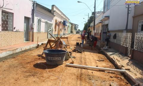 Em Óbidos, Trav. Eloy Simões recebe trabalhos de infraestrutura   Portal Obidense