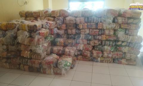 Defesa Civil de Óbidos continua entregando cestas básicas aos afetados pela cheia do rio   Portal Obidense