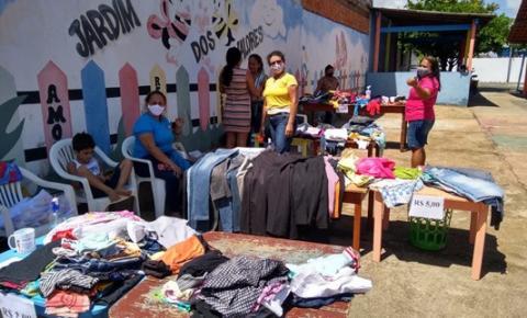 Escola Madalena Printes, realiza Bazar de roupas | Portal Obidense
