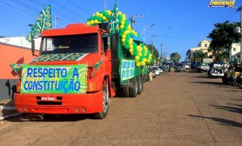Manifestação marca o feriado de 7 de setembro em Óbidos   Portal Obidense